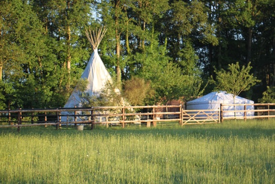 Le tipi du Country Lodge