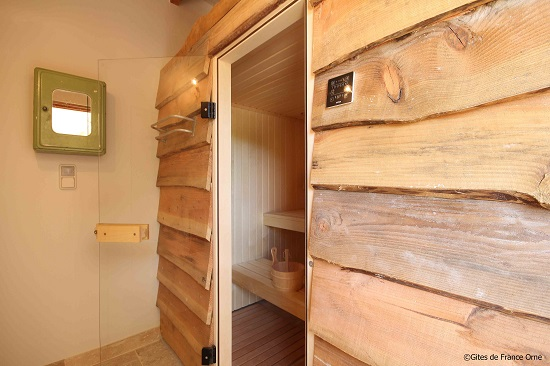 Le sauna du Country Lodge