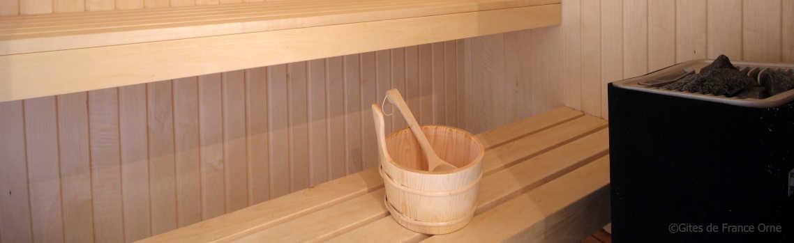 Le sauna du Country Lodge