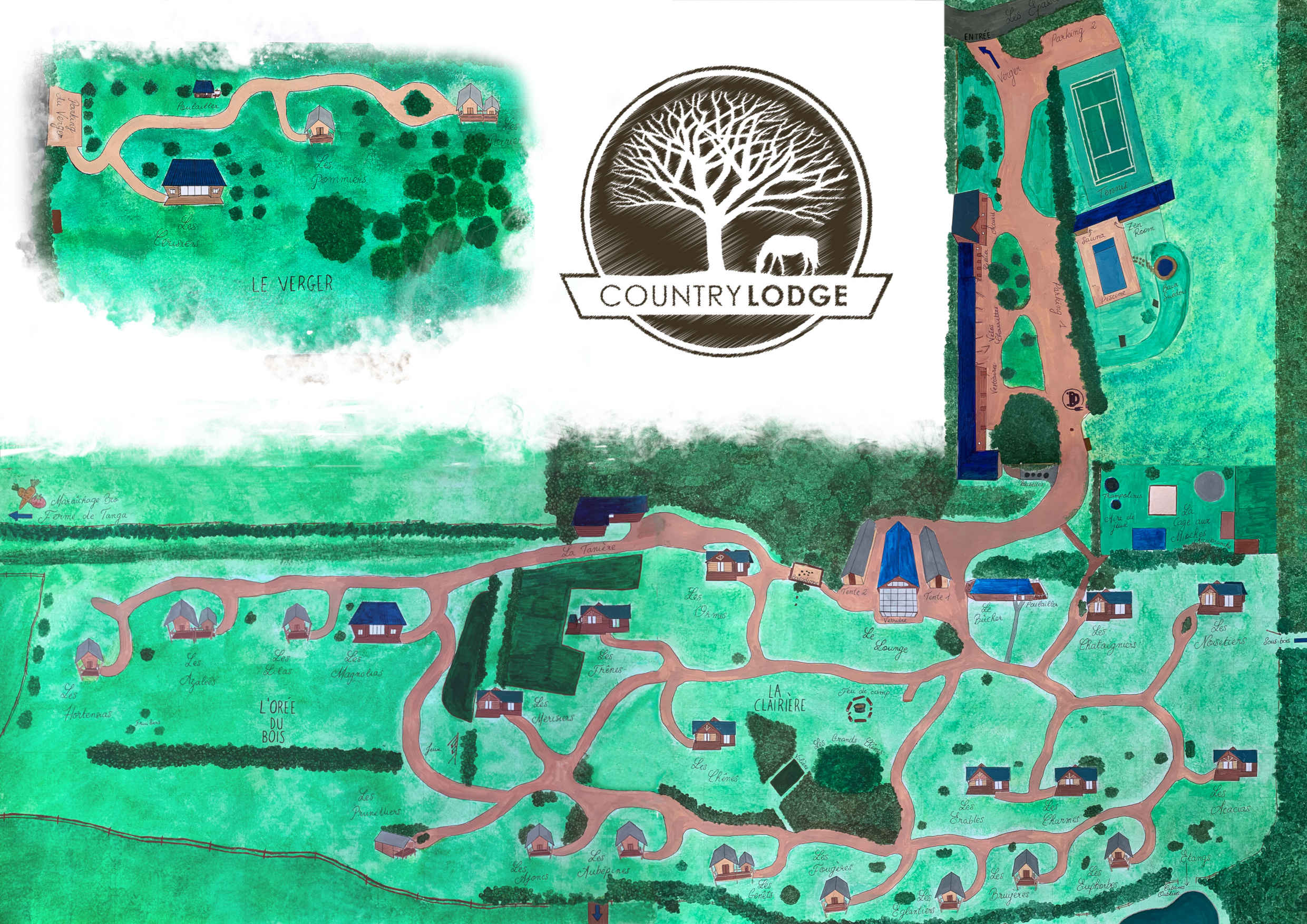 Plan du domaine du Country Lodge